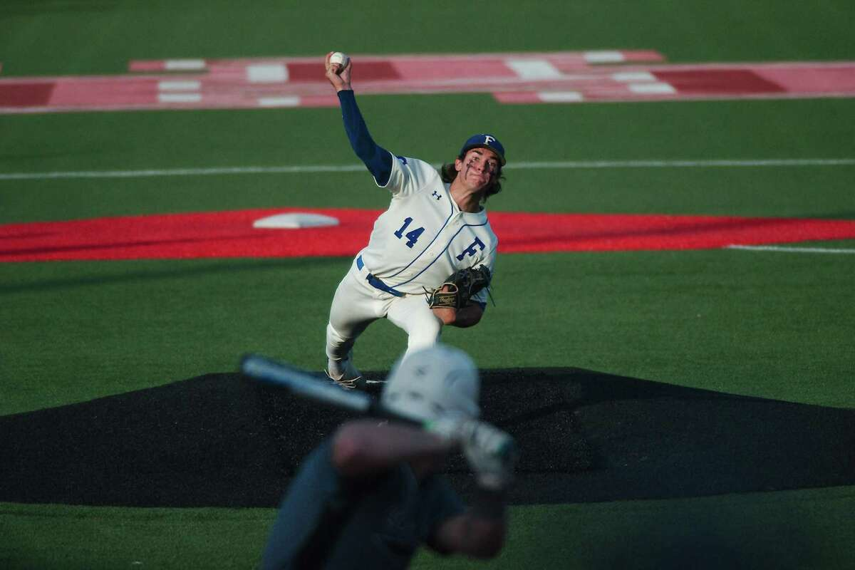 Friendswood pitcher Jacob Rogers and the rest of the Mustangs take on Barbers Hill tonight in game one of the Region III-5A championship series at the University of Houston.
