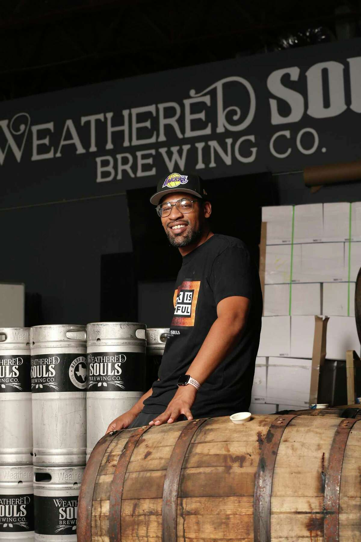 Weathered Souls Brewing Co. founder and brewer Marcus Baskerville speaks on the Black is Beautiful stout ale campaign, Friday, May 28, 2021. One year ago, he started the campaign, that has gone internationally, to raise awareness to the injustices people of color face.
