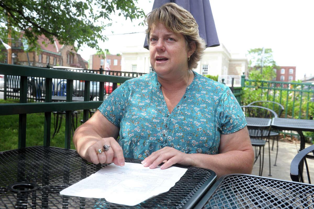 Cindy Boynton speaks during an interview in Milford, Conn. June 2, 2021.