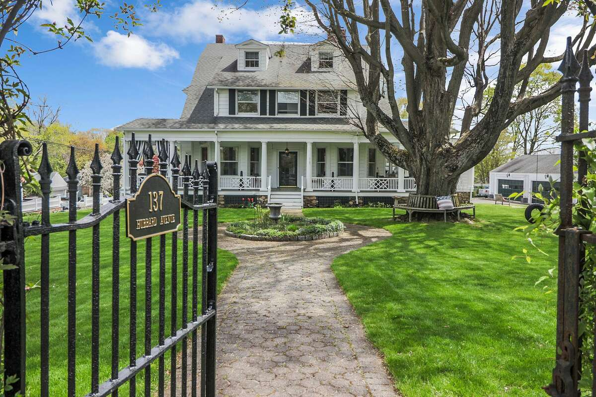 The home on 137 Hubbard Avenue in Stamford, Conn. was one of three houses built on the street when the family of Nathanial Hubbardbegan subdividing the land in the early 1900s.