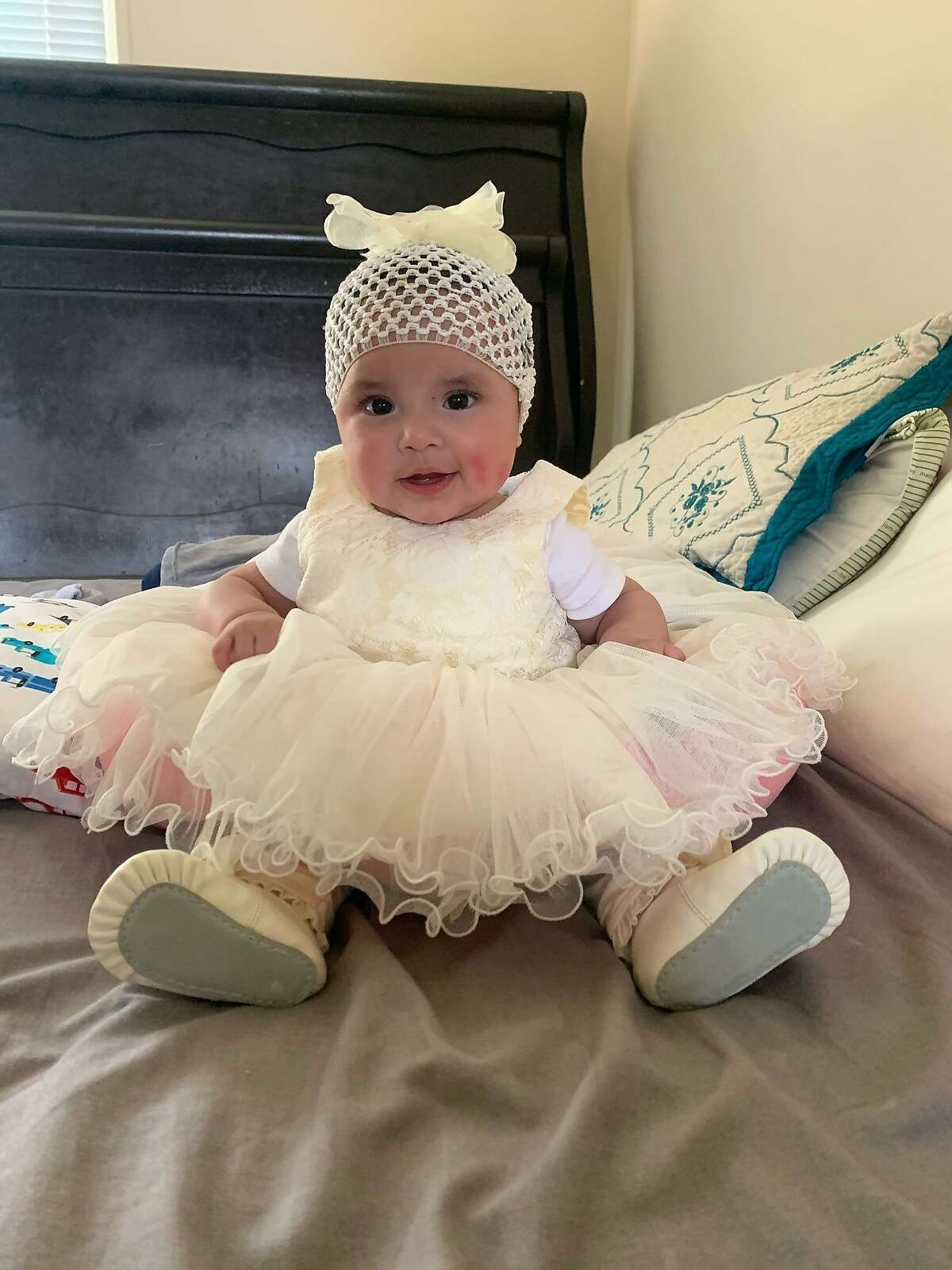 A photo of 5-month-old Abigail Ramirez-Banales, whom, along with her mother, 16-year-old Claudia Ramirez-Banales, have not been heard from since Saturday. San Mateo police are seeking the public's help in locating them. Both are considered to be at-risk because of their ages.