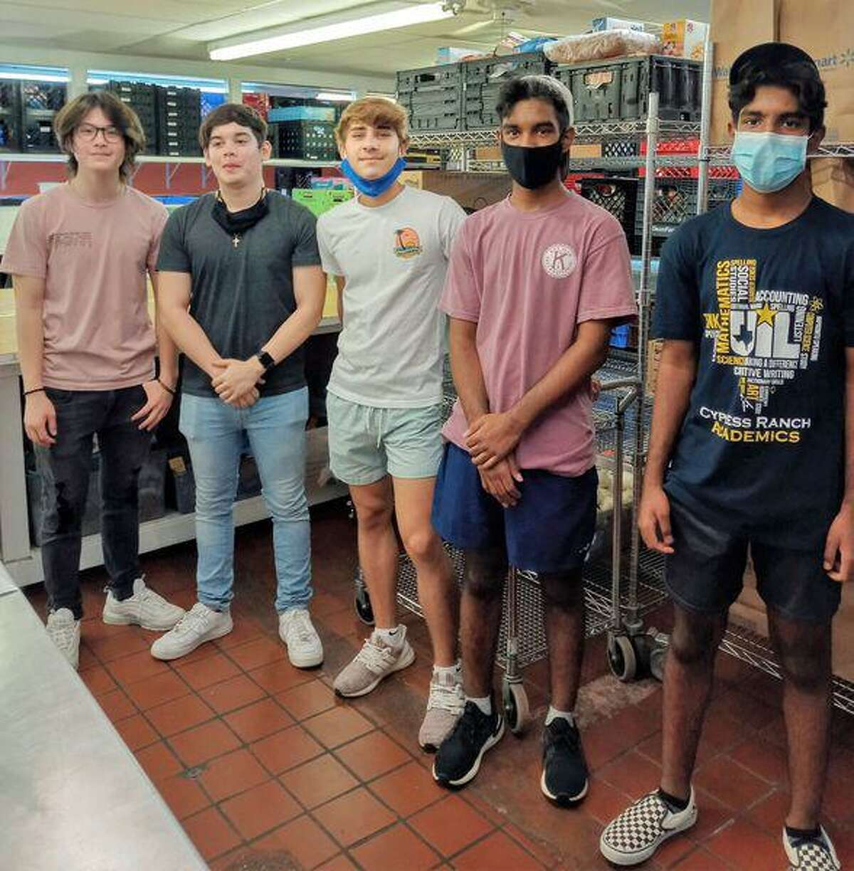 Cypress Assistance Ministries received donations from local Cy-Ranch High School students.