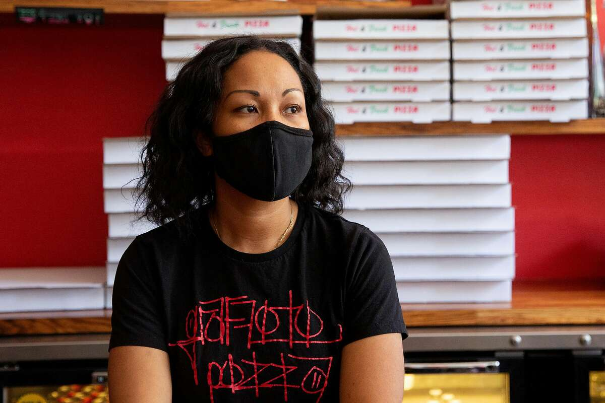 Davina Dickens, the co-owner of Graffiti Pizza, has a Black father and Japanese mother, but grew up identifying as Black. In May, she was accused of lying about her business being Black-owned.