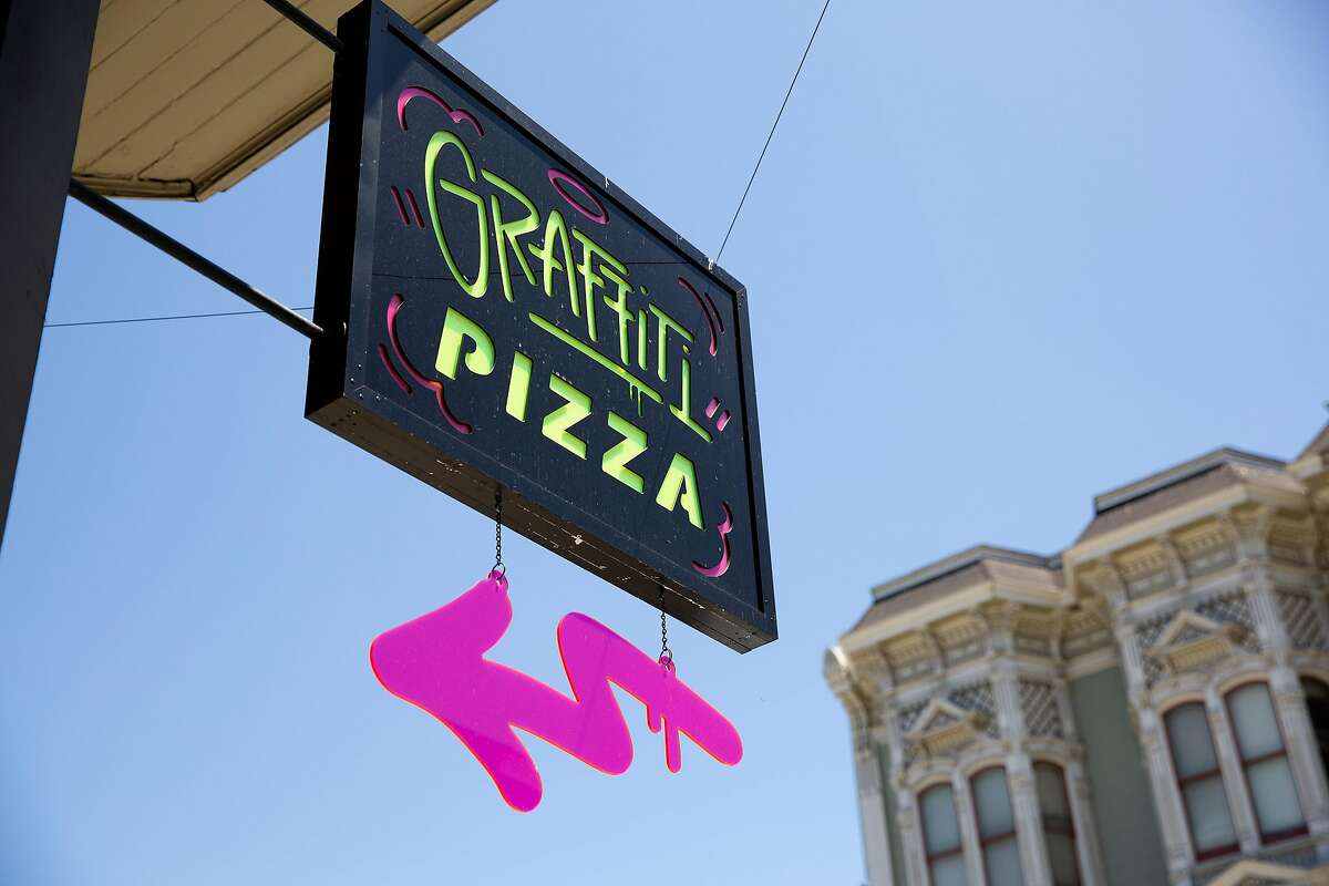 Graffiti Pizza in Oakland was caught in a social media firestorm in May over a sign in its window that said the business was