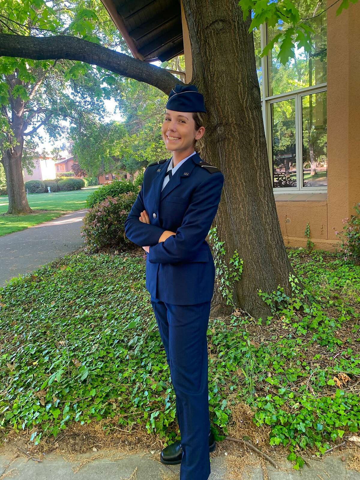 Rachel Heck, after participating in Air Force ROTC this past semester, is considering extending her military commitment beyond her college years at Stanford.