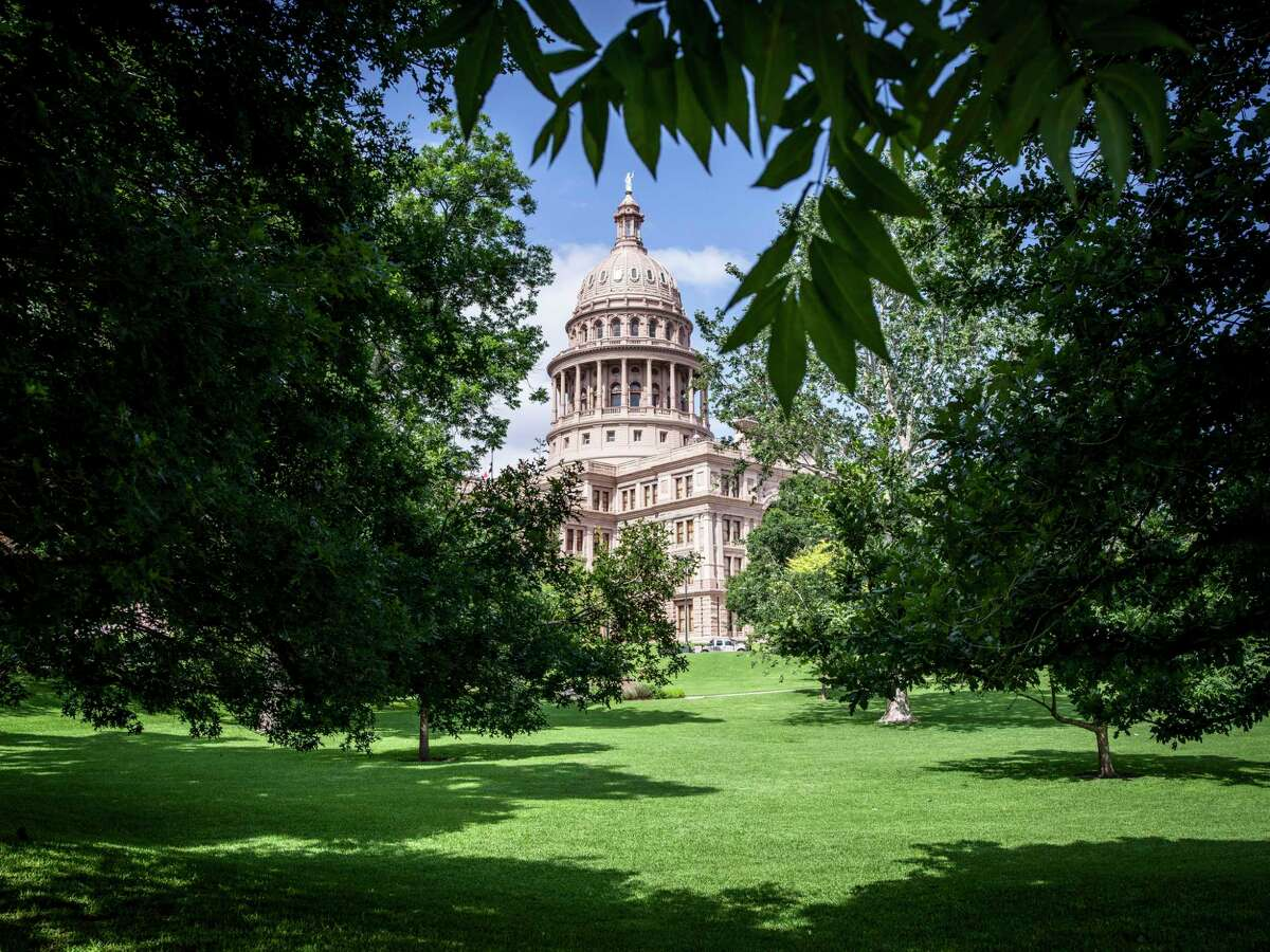 The Texas state Capitol in Austin, on Thursday, May 27, 2021. Texas Democrats staged a last-minute walkout Saturday, May 29, 2021, to kill an elections bill that would have restricted voting statewide.