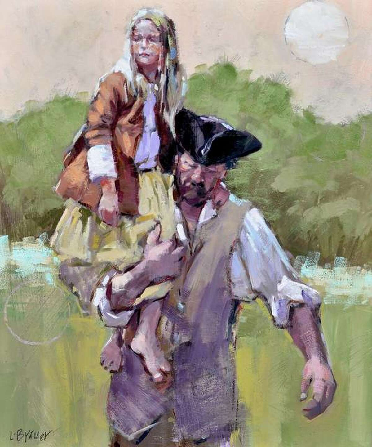 """Visitors can purchase raffle tickets for a chance to win a fine art oil painting, """"Scout,"""" valued at $3,200, painted by local re-enactor and fine art painter Lon Brauer. Tickets cost $10 each or three for $25. The winner will be announced at the closing ceremony at 5 p.m. June 6 and ticket holders need not be present to win. All proceeds beyond the cost of the event will be donated to Camp Dubois."""