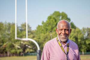 James Barber is a former Southern Connecticut State University two-sport athlete, longtime football and track coach and current Director of Community Engagement at the university. Photographed May 21, 2021.