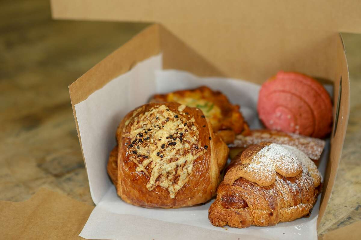 A box of Bake Sum pastries is seen in Berkeley. The pop-up is opening a permanent space in Oakland this summer but may continue distributing pastry boxes around the Bay Area.