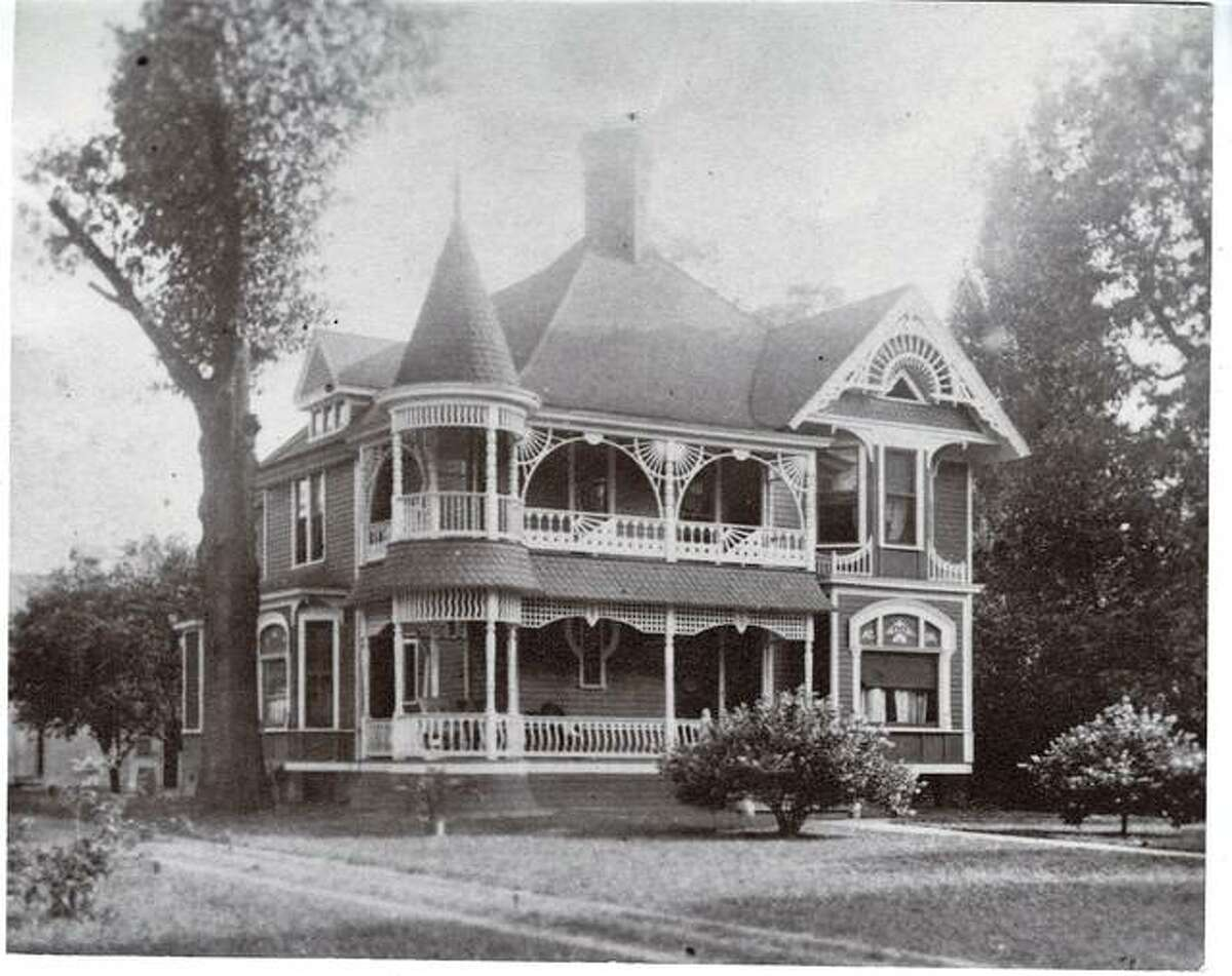 Pictured in this 1915 photo is a St. Louis Street home that was built for John S. Trares in 1891. Numerous windows from this house can be seen in the Rose Avenue bungalow.