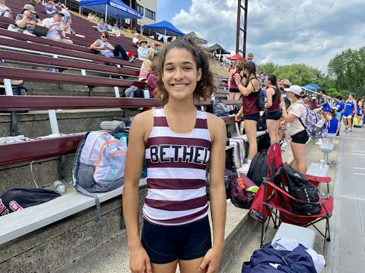 Bethel freshamn Talia Graham finished in fourth in the pole vault during the Class MM Track and Field State Championships.