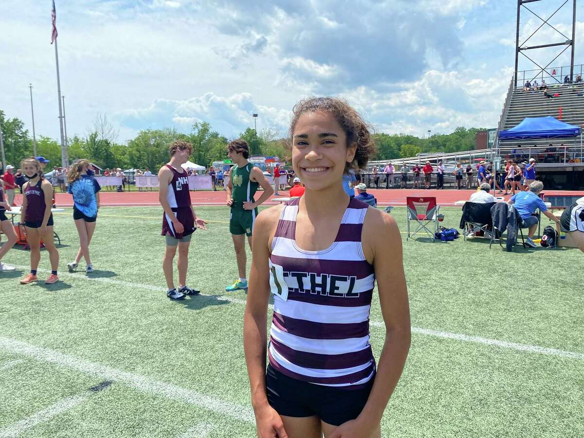 Ava Graham won her first state title in track and field after winning the 800 meters in 2:18 at the 2021 CIAC Class MM Track and Field State Championships. This is her first season competing in the event.