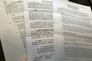 Three school superintendent contracts provided in response to a public records request.