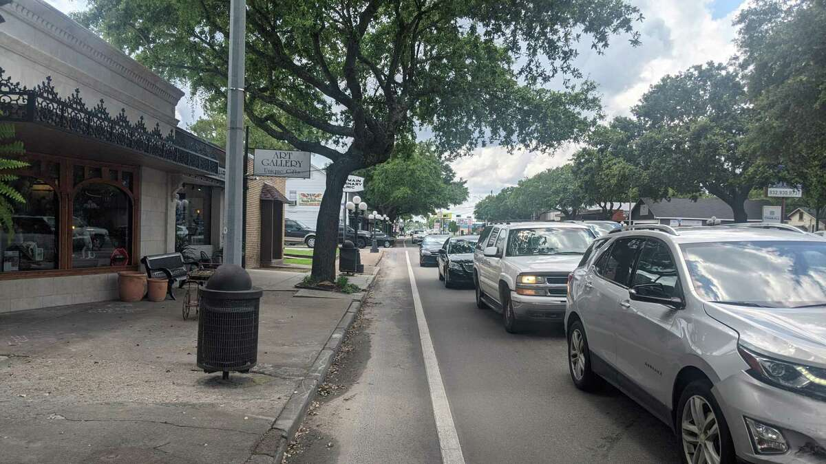 People walking the streets of Main Street in Tomball. The city has seen a rise in sales tax revenue in recent months as the state reopened more after a year of the COVID-19 pandemic.