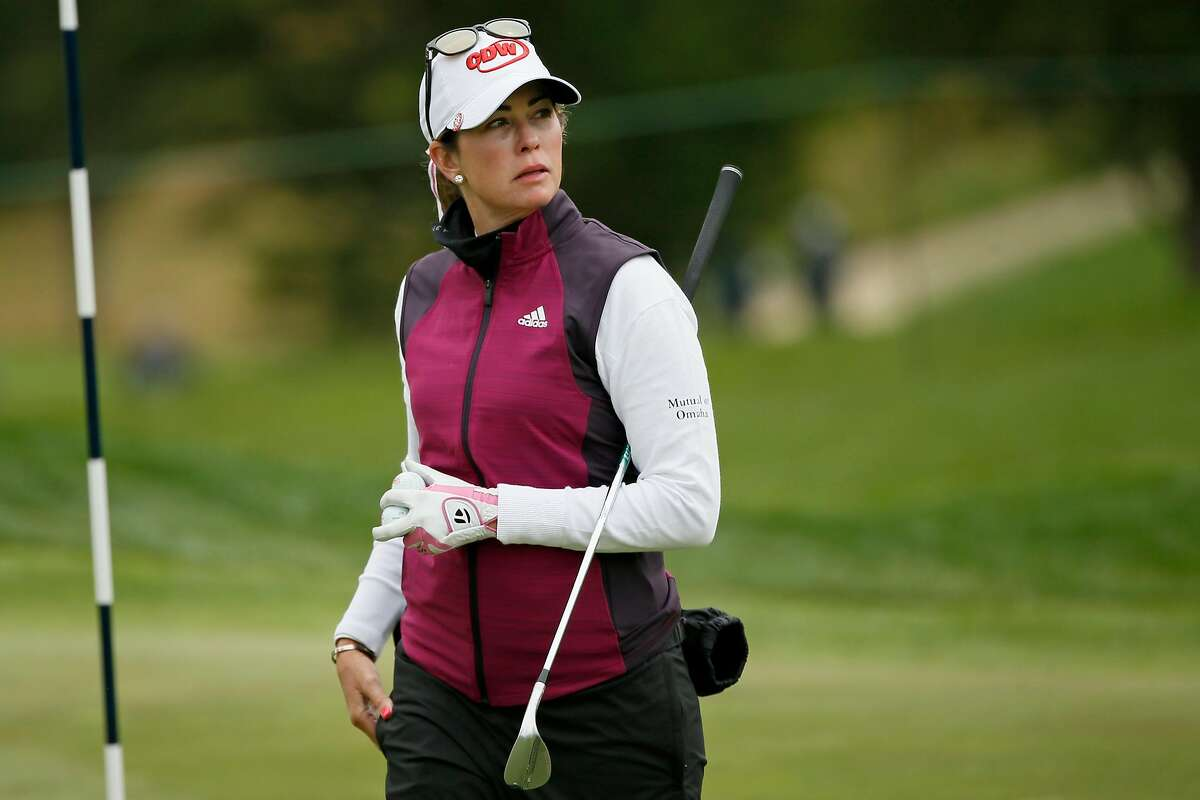 Paula Creamer pauses on No. 7 during Wednesday's practice round ahead of the U.S. Women's Open at the Olympic Club. This is a homecoming for Creamer, who lived in Pleasanton until moving to Florida at age 14.