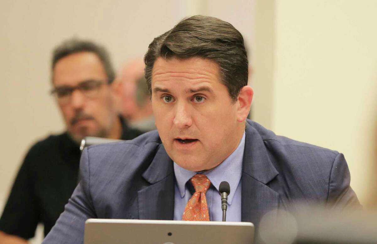 """City Manager Erik Walsh speaks as the City Council at a June 2 meeting. """"We're on an upswing,"""" City Manager Erik Walsh says of the city's economy, but he cautions that the pandemic gave an unprecedented shock to the city's coffers so the path to recovery isn't clear."""