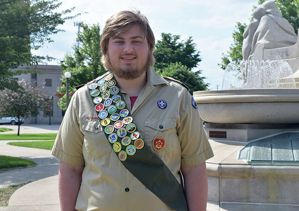 Zach Cooper of Jacksonville earned the rank of Eagle Scout this year.