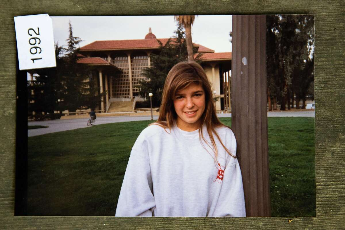 Erica Goldman, shown as a Stanford freshman in 1992, says in a lawsuit that she was a victim of sexual abuse by former Branson School assistant boys basketball coach Richard Manoogian when she attended the private Marin County high school.