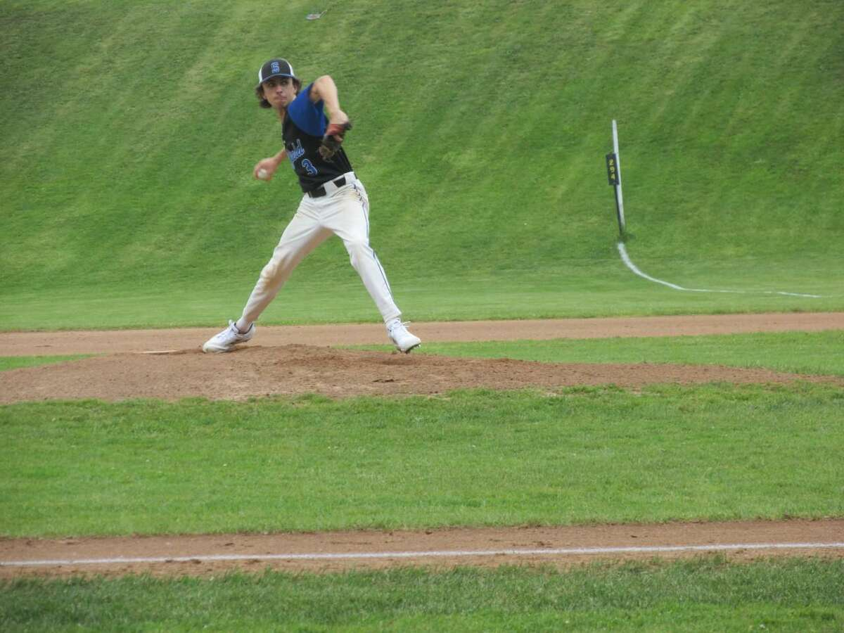 Suffield sophomore Sam Beaudoin held Northwestern to five hits in a Class M second-round loss to the Highlanders Wednesday afternoon at Northwestern High School.