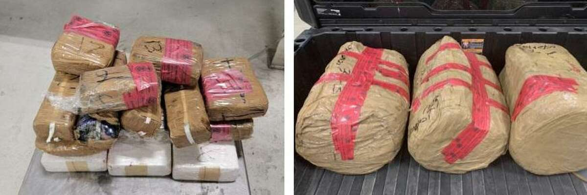 U.S. Customs and Border Protection officers said these 14 packages containing 21.16 pounds of cocaine and the three packages containing 167.37 pounds of methamphetamine had an estimated combined street value of $3.5 million.