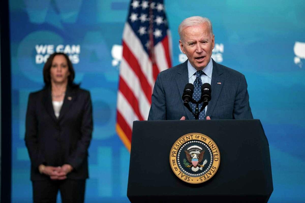 El presidente Joe Biden en la Casa Blanca en Washington el 21 de abril del 2021.