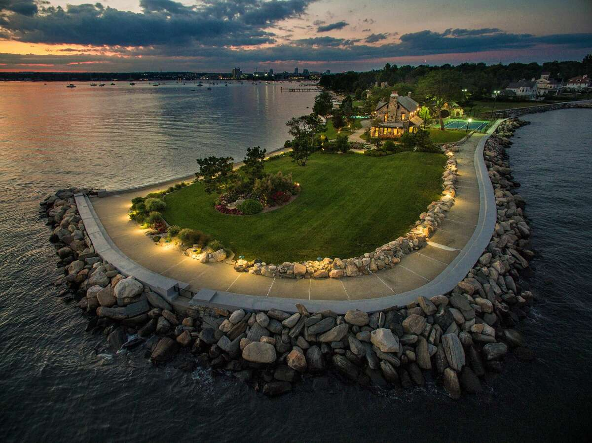 The 1.67 acre property on which 123 Saddle Rock Road house sits is Stamford's southernmost site.