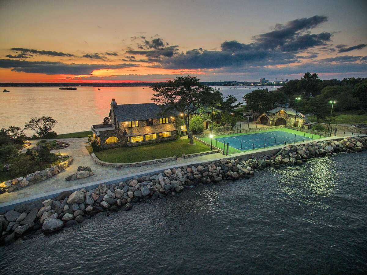 The 1.67 acre property on which 123 Saddle Rock Road house sits is Stamford's southernmost site and has views of Long Island Sound.
