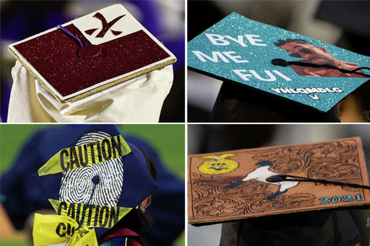 Scroll through the gallery below to see how Laredo seniors decorated their graduation caps.
