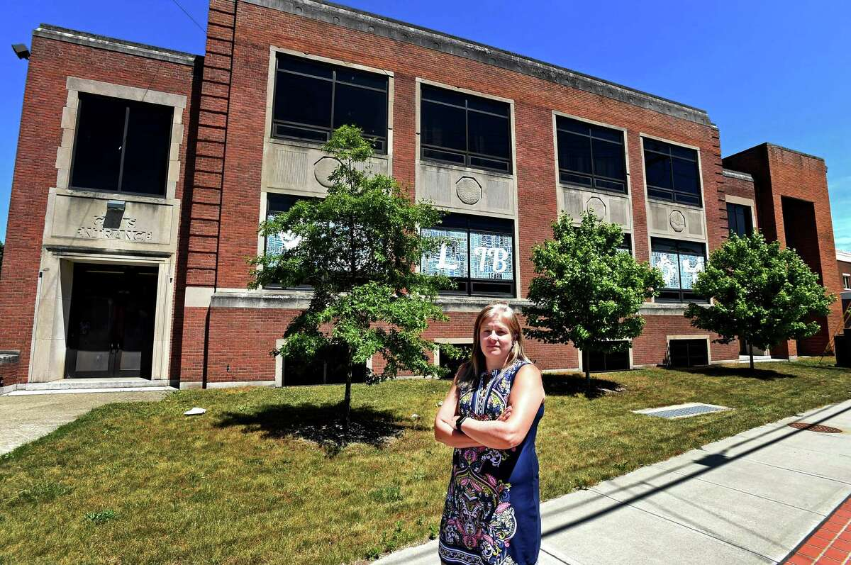 City of West Haven Library Director Colleen Bailie in West Haven in 2020.