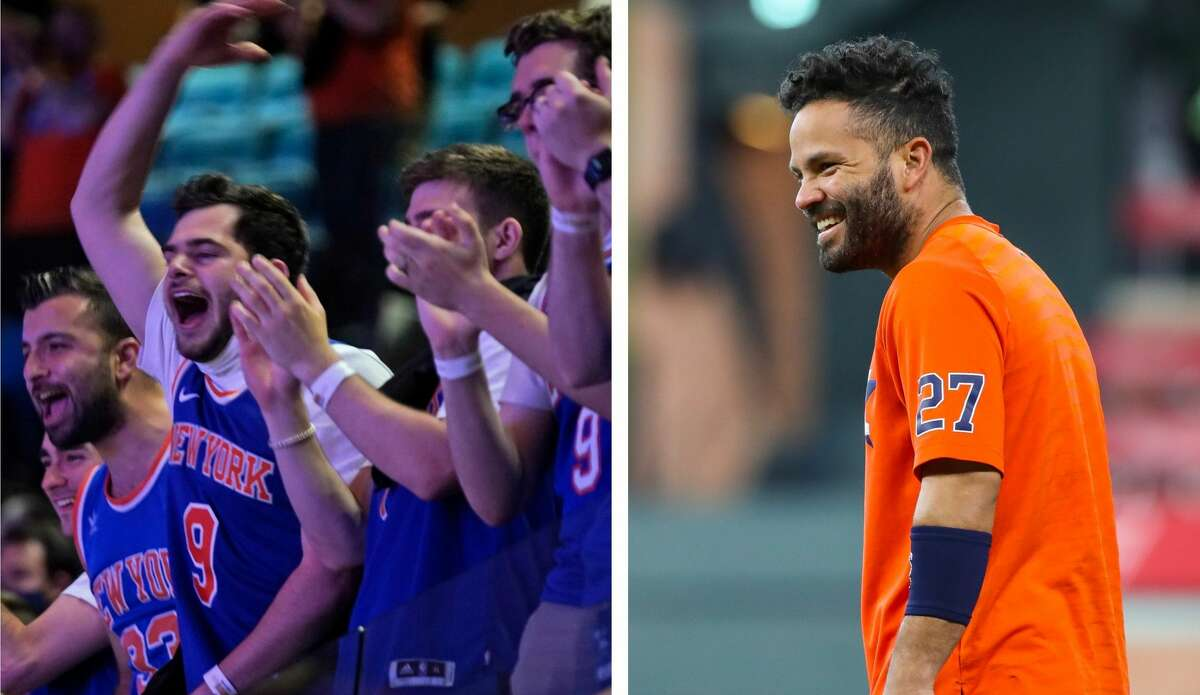 New York Knicks fans took out the frustrations of rooting for a failed NBA franchise by going after Jose Altuve on Wednesday night.