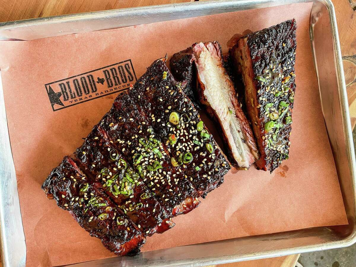 Gochujang Glazed Pork Ribs atBlood Bros. BBQ