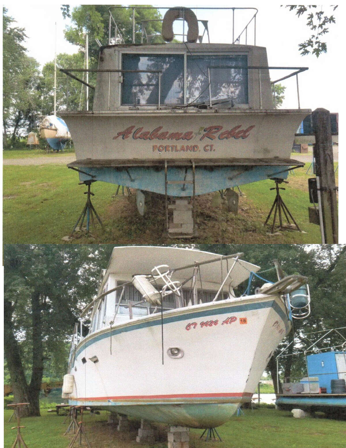 Registration Number/Hull Identification Number: CT 9424 AP/7091639 Make/Model: Witchcraft/Houseboat Length: 39' Location: Portland/Connecticut River Dates of suspension: Sept. 11, 2020 - Oct. 26, 2020