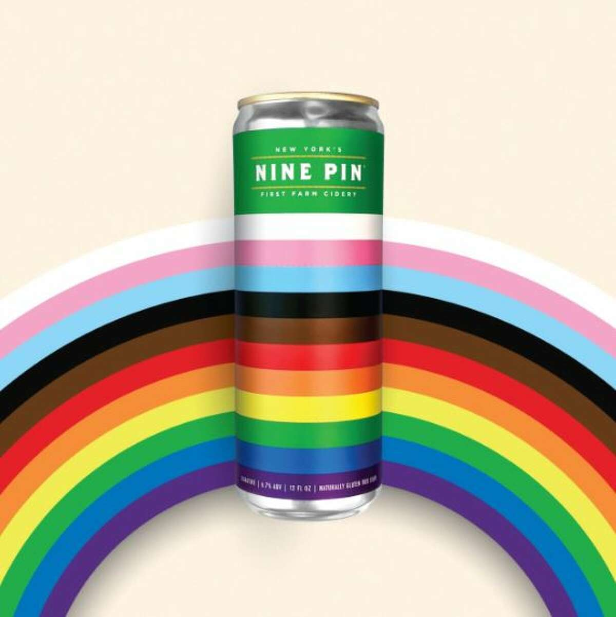 Four packs of Nine Pin's new Pride cans are being sold this month to benefit a Columbia County LGBTQ nonprofit