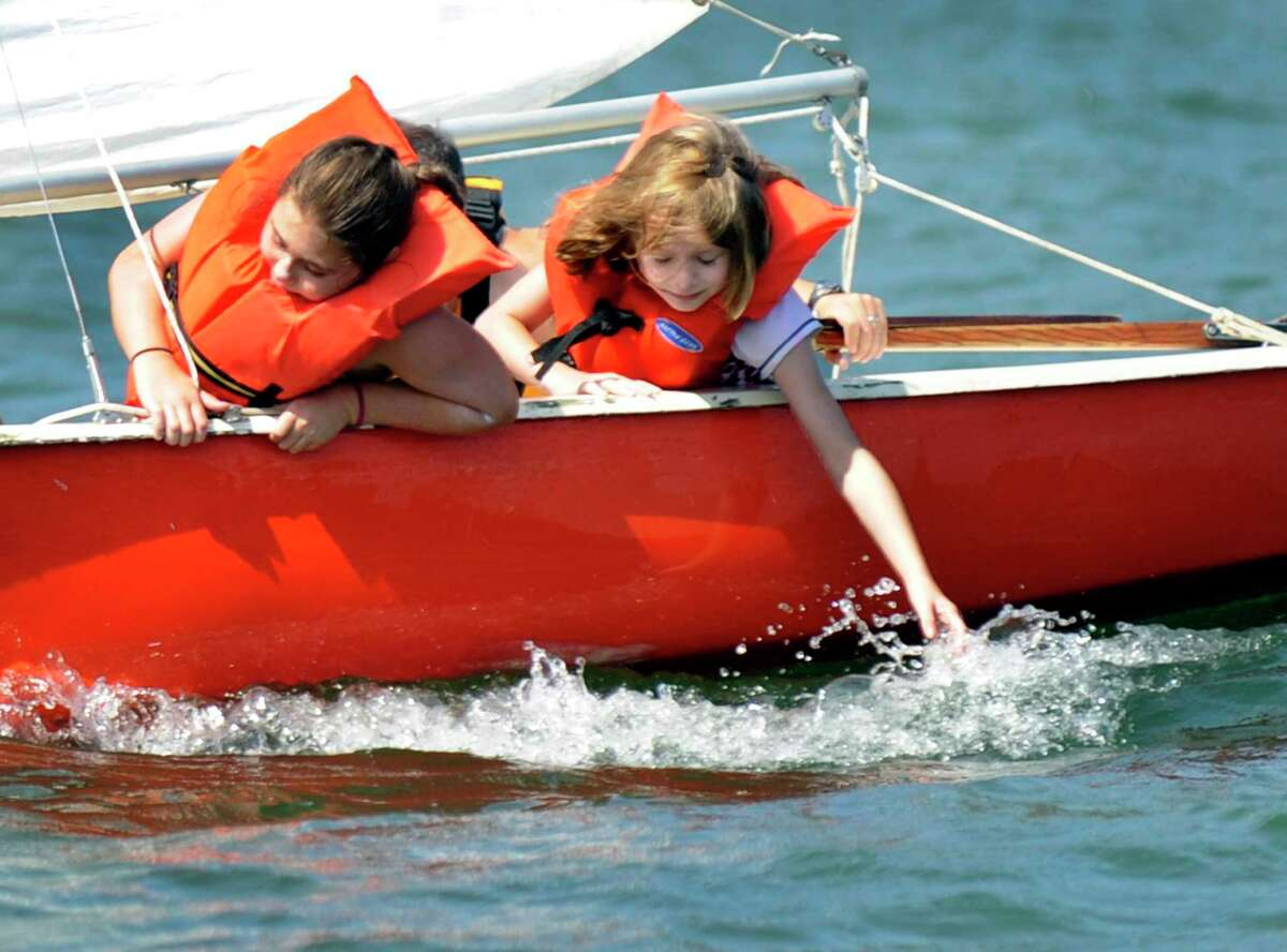 Camp Candlewood Day Camp, a Girl scout camp in New Fairfield, offers sailing lessons, Friday, July 10, 2015.