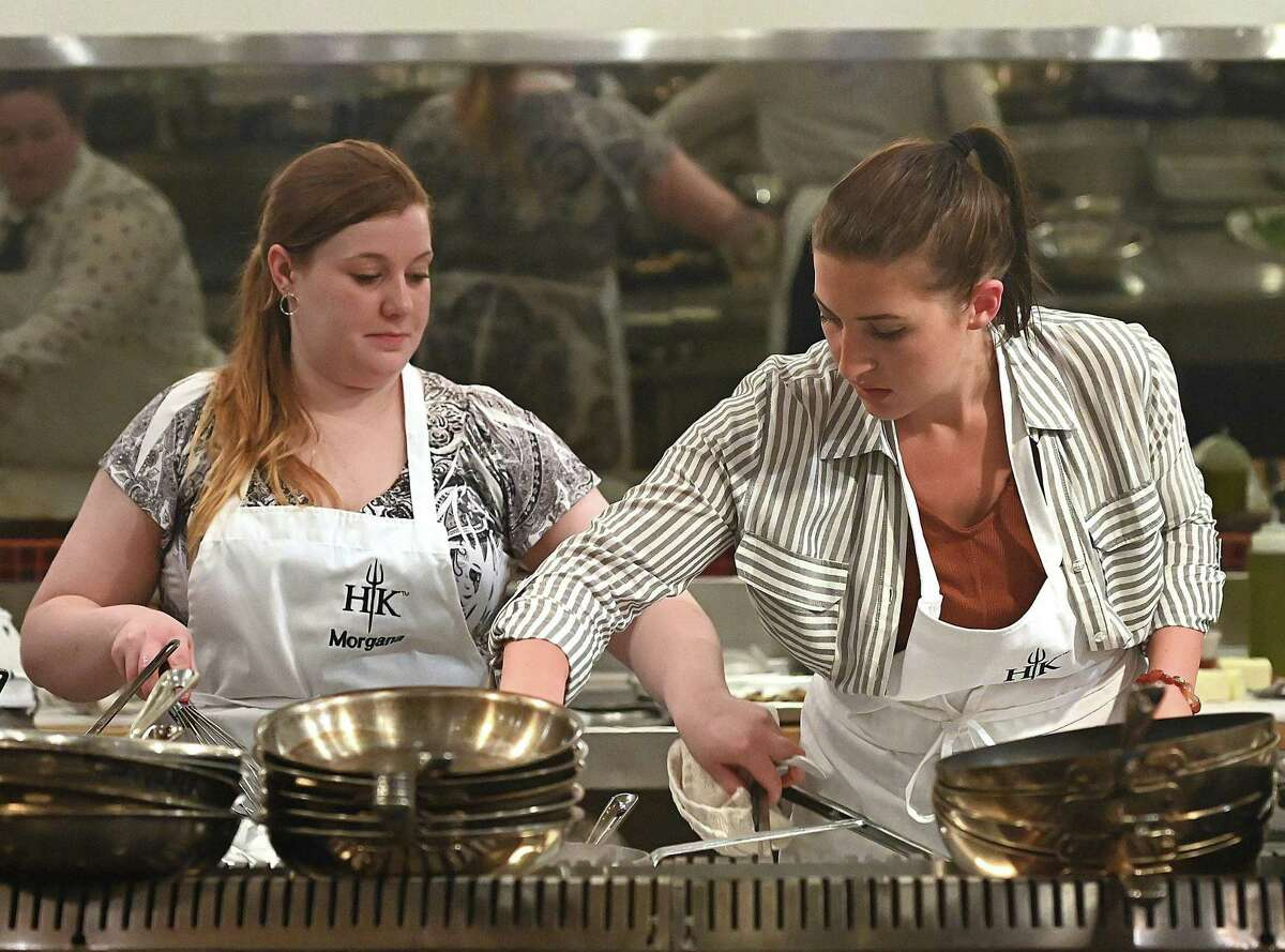 Contestants Morgana Vesey, left, and Josie Clemens in the