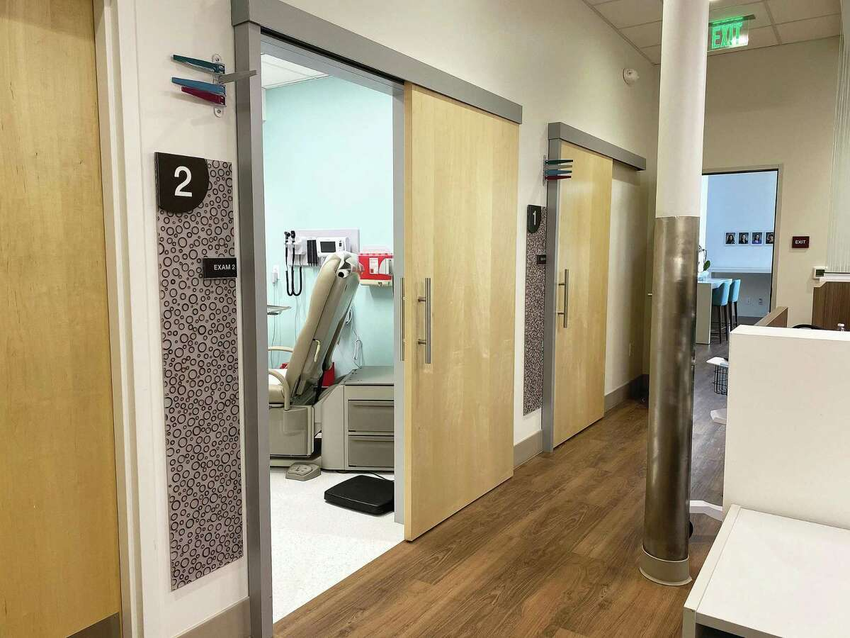 The interior of the clinic shows the expansive size of the clinic connected to Walgreens. VillageMD has partnered with the pharmacy in building connected facilities since 2019.