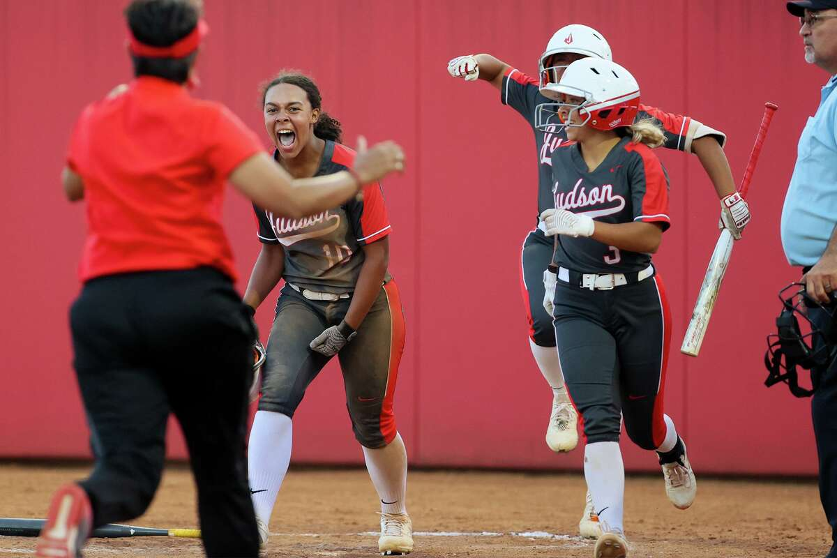 Keely Williams, left, and the Rockets saw their historic run end one game short of state title. Williams, a Texas A&M signee, led the area in home runs with 19.