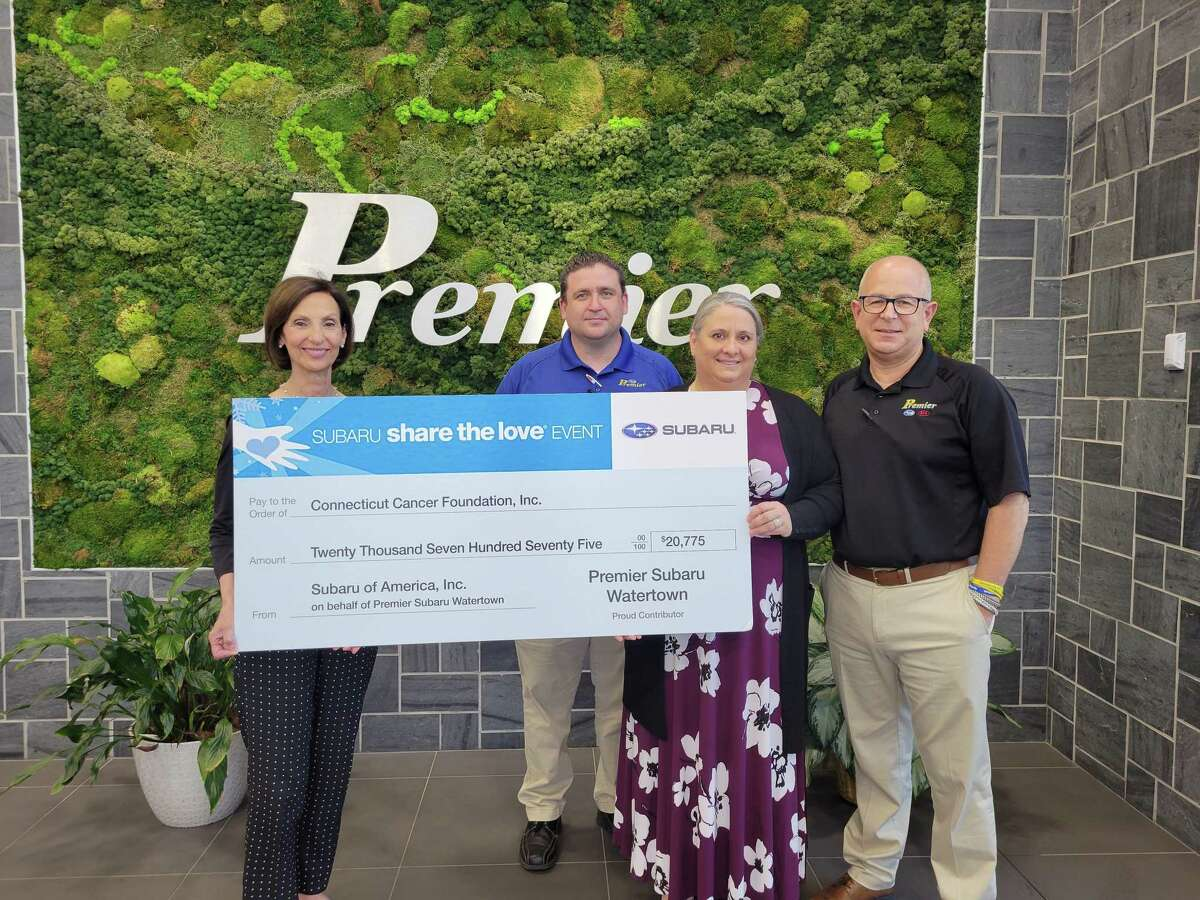 Premier Subaru Watertown recently presented Jane Ellis, president, and executive director of The Connecticut Cancer Foundation, with a check in the amount of $20,775.