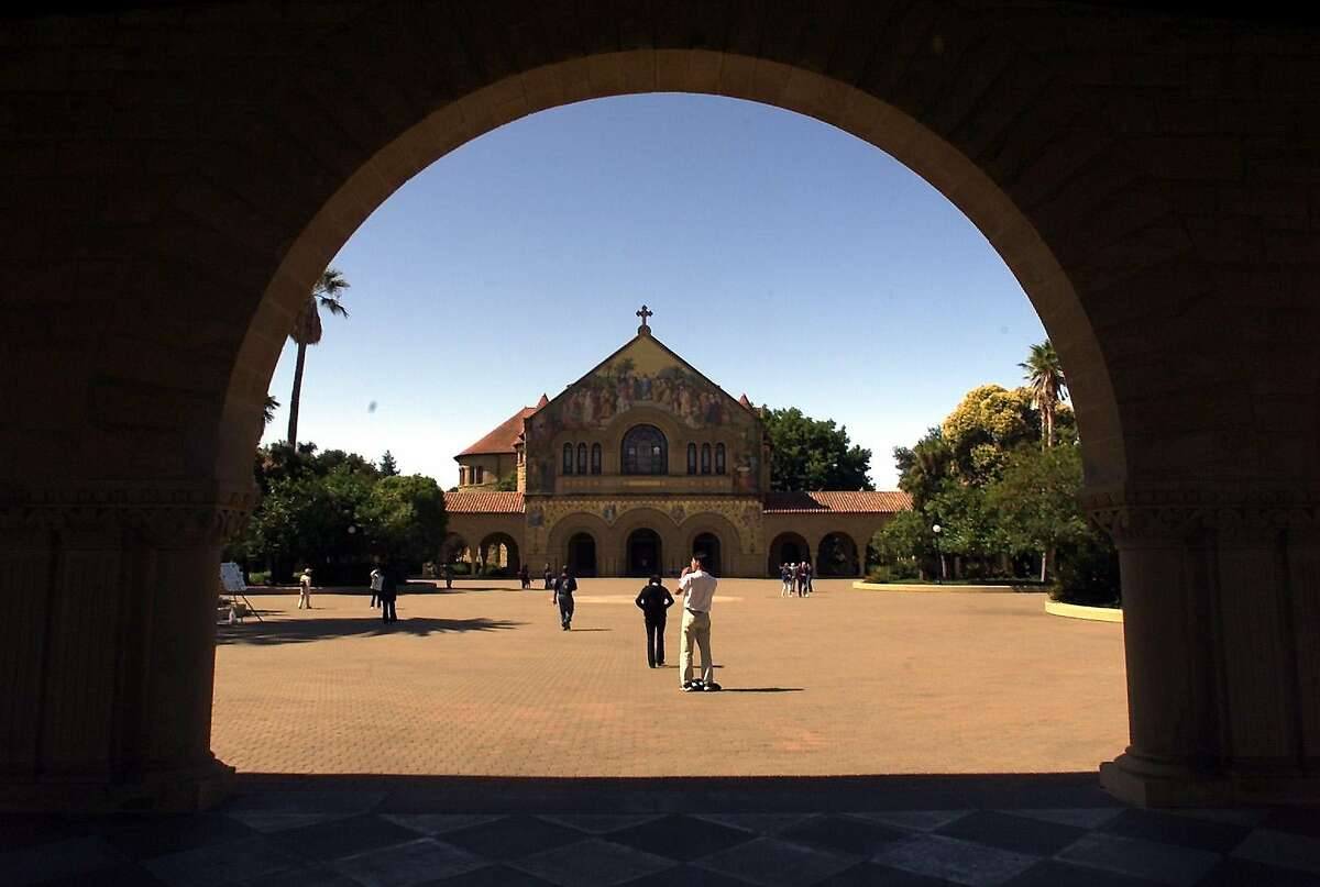 The Stanford campus, where a law student's graduation was put on hold after he produced an email satirizing a conservative orginazation.