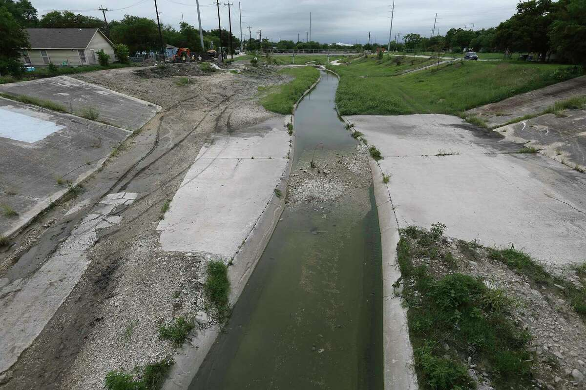 A section of Zarzamora Creek near Alderete Park can be seen from NW 36th Street. The San Antonio River Authority has confirmed the inclusion in President Joe Biden's budget of $2.34 million for engineering and design work on the Westside Creeks project, which envisions hike-and-bike trails and ecosystem restoration along Alazan, Apache, Martinez and Zarzamora creeks. It's long-sought progress for a project that's been in the planning for about 13 years.