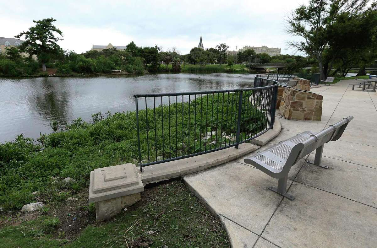 A view of the park from Lake Elmendorf on Thursday.  The San Antonio River Authority has confirmed President Joe Biden's budget inclusion of $ 2.34 million for engineering and design work on the Westside Creeks project.