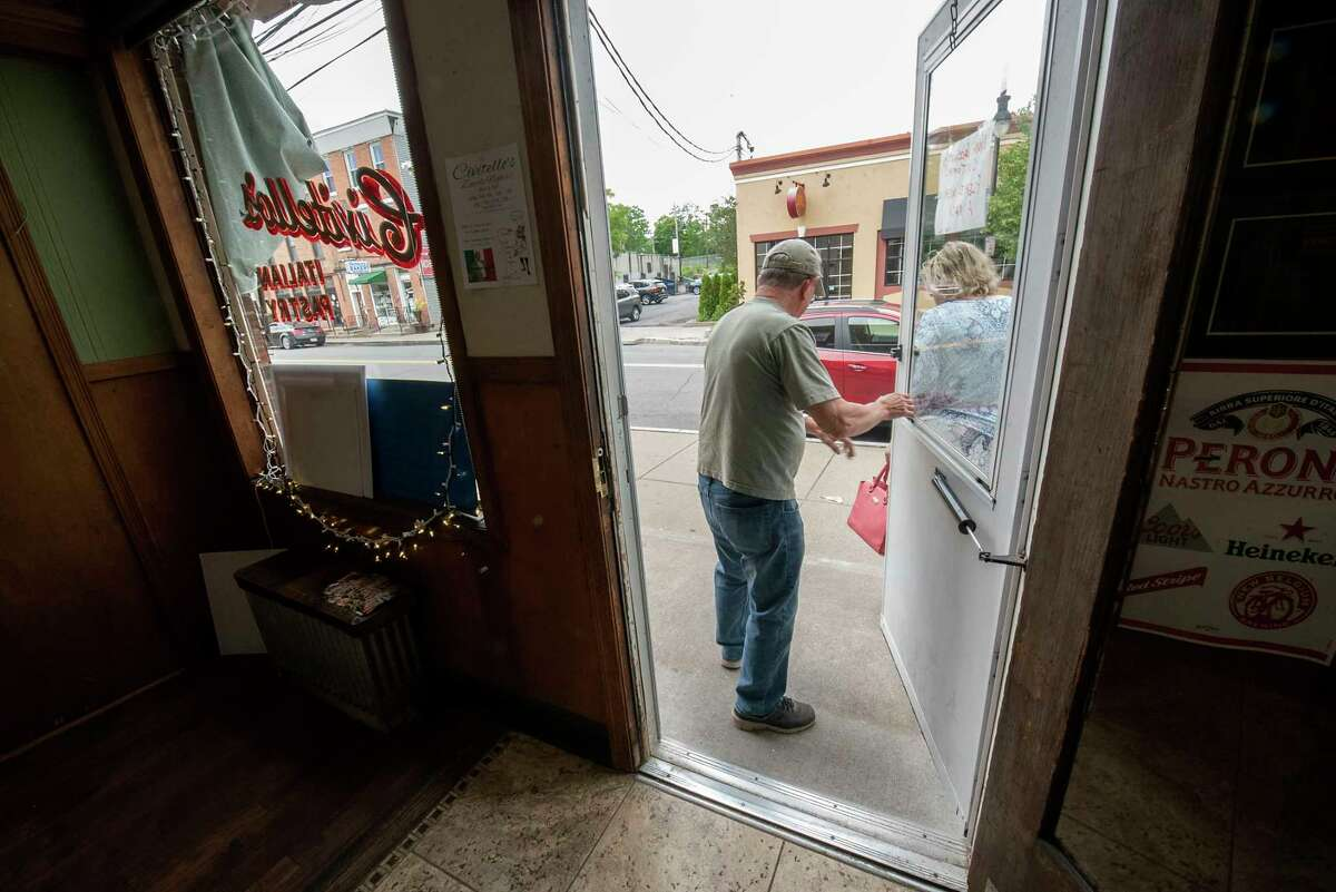 Customers leave Civitello's on Thursday, June 3, 2021 in Schenectady, N.Y. (Lori Van Buren/Times Union)