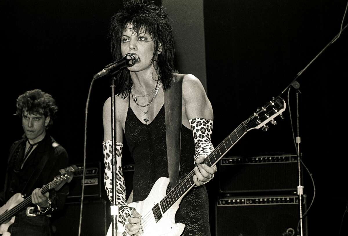 American musician Joan Jett performs in concert, New York, New York, circa 1985. (Photo by Larry Busacca/WireImage)