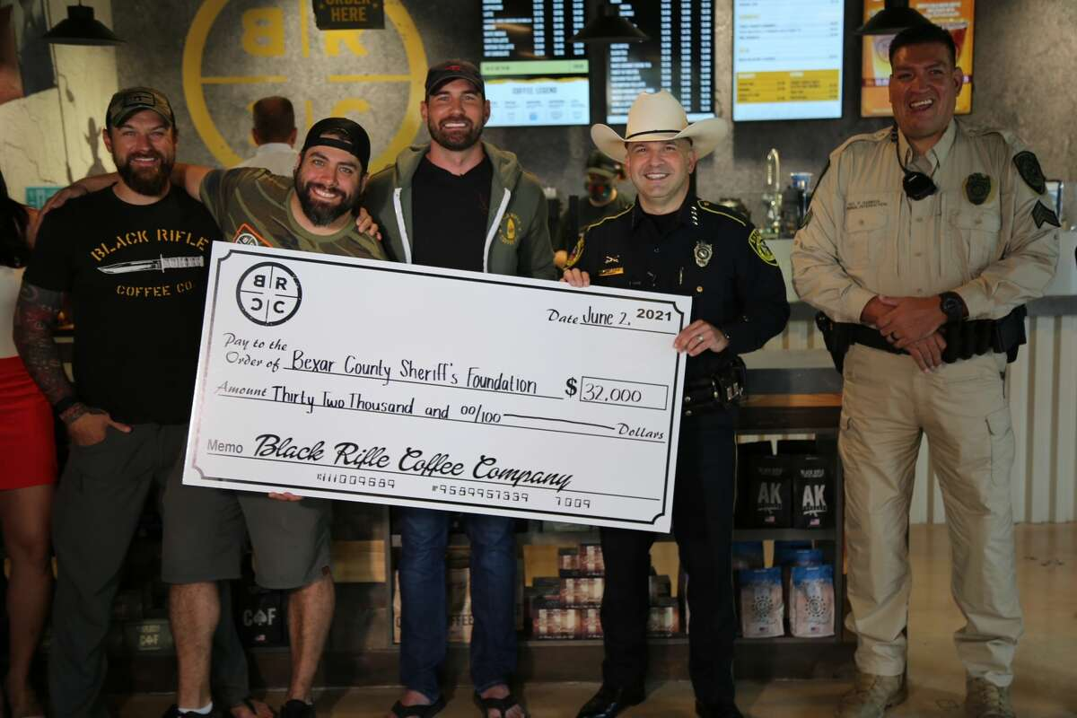"""The Bexar County Sheriff's Office recently received a $32,000 donation from the Black Rifle Coffee Company for a rescue boat that was deemed a """"shiny new toy"""" by one county official."""