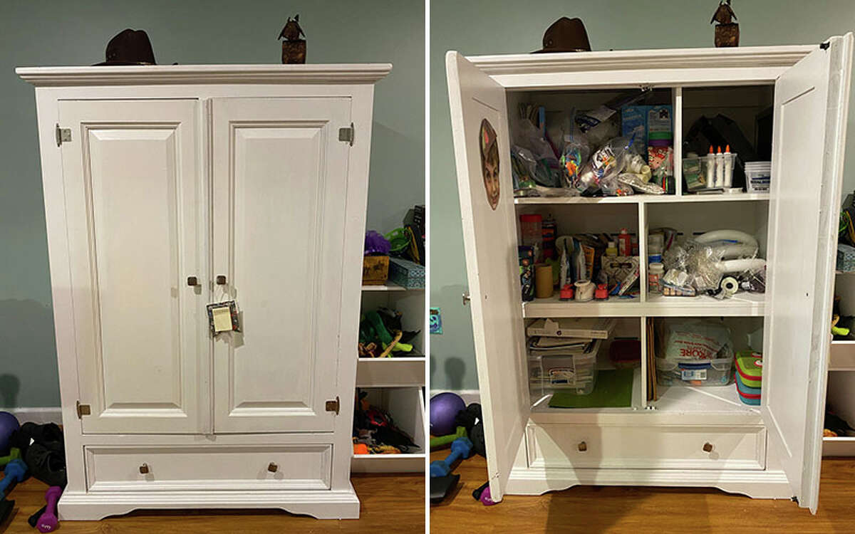 Places & Spaces writer Leigh Hornbeck's craft cabinet.