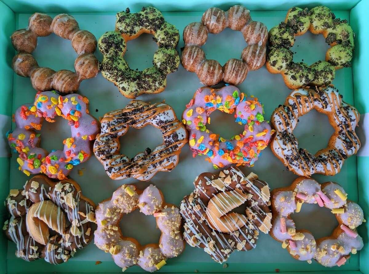 Assorted mochi doughnuts from Dochi.