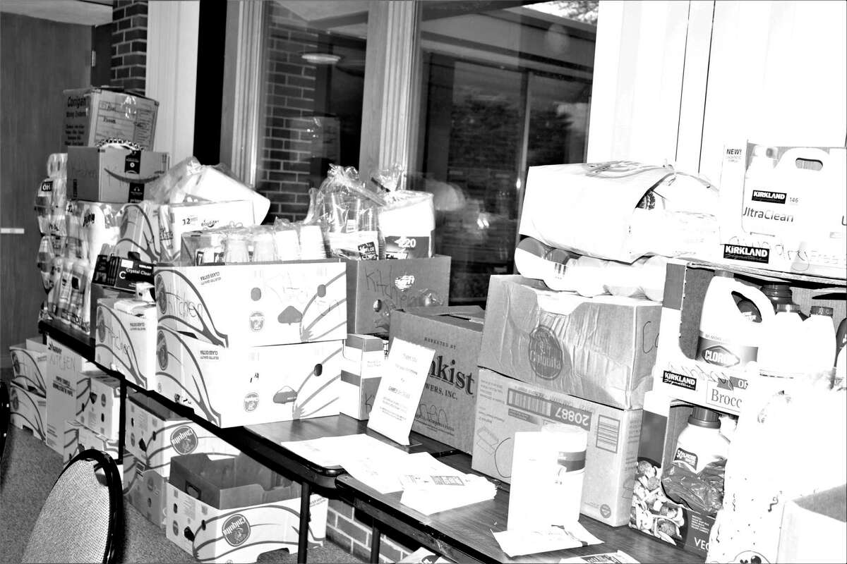 St. John's Lutheran Church recently collected 12,461 items to donate to Camp Fish Tales. (Photo provided)