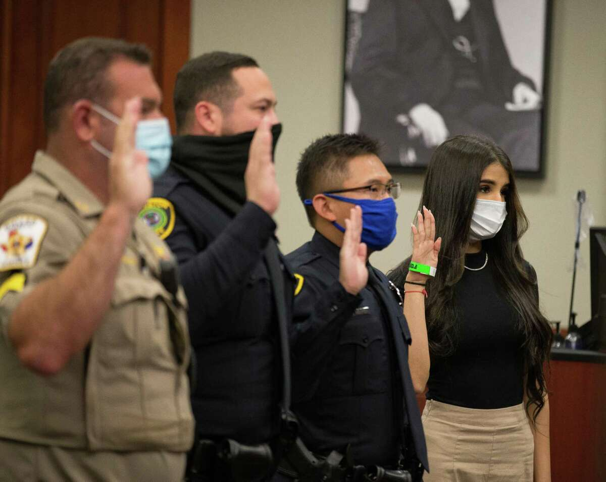 Witnesses are addressed by the judge during a bond revocation hearing on a murder charge for Victor Hugo Cuevas, a 26-year-old who has been recently linked to a missing tiger named India, at Fort Bend County Justice Center on Friday, May 14, 2021, in Richmond.