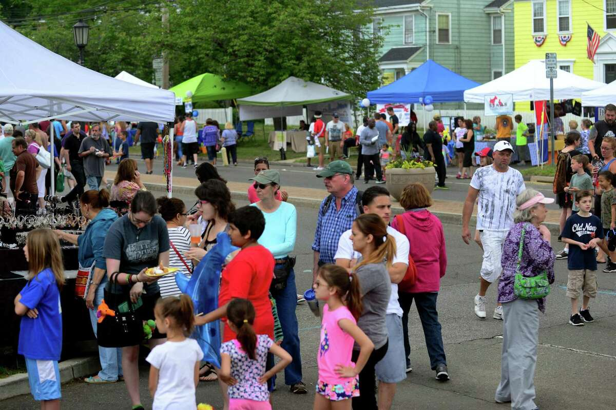 """The 5th Annual """"Main Street Festival"""" in downtown Stratford, Conn., on Saturday June 6, 2015. The festival is sponsored by Stratford Rotary and the Stratford Chamber of Commerce. According to the festival's website: www.stratfordctfestival.org, """"This will be an opportunity for various organizations and vendors to promote the work they do, boost their treasury dollars, and provide a day of fun and pleasure for people of all ages."""""""