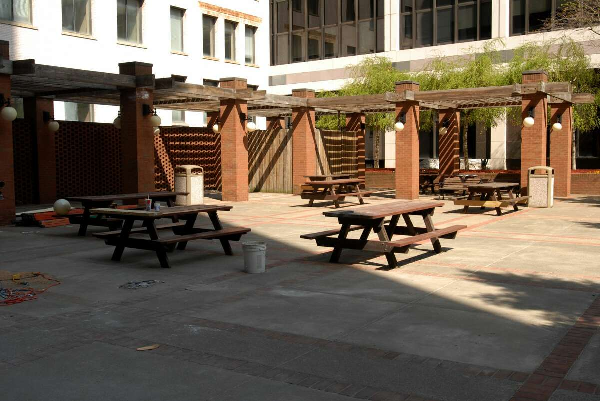 The expansive terrace behind 30 S. Pearl St. in Albany will be the site of live music and outdoor dining for the forthcoming restaurant SideBar, due to open in August. The space previously was home to the restaurants Dale Miller and Taste. (Times Union file photo.)